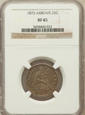 Seated Quarters: , 1873 25C Arrows XF45 NGC. NGC Census: (15/193). PCGS Population(15/213). Mintage: 1,271,700. Numismedia Wsl. Price for pro...