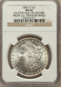 Morgan Dollars, 1885-O $1 MS66 NGC. Olathe Dollar Hoard From U.S. Treasury Bags.NGC Census: (4358/532). PCGS Population (2273/195). Mintag...