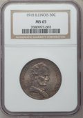 Commemorative Silver: , 1918 50C Lincoln MS65 NGC. NGC Census: (1097/350). PCGS Population(1221/596). Mintage: 100,058. ...