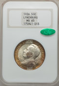 Commemorative Silver: , 1936 50C Lynchburg MS65 NGC. CAC. NGC Census: (996/543). PCGSPopulation (1291/687). Mintage: 20,013. Numismedia Wsl. Price...