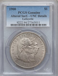 Commemorative Silver, 1900 $1 Lafayette Dollar -- Altered Surfaces -- PCGS Genuine. UncDetails. NGC Census: (21/2142). PCGS Population (61/2604)...