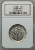 Commemorative Silver: , 1938 50C Texas MS65 NGC. NGC Census: (322/279). PCGS Population(392/247). Mintage: 3,780. Numismedia Wsl. Price for proble...