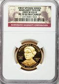 Modern Issues, 2009-W G$10 Margaret Taylor Half-Ounce Gold PR70 Ultra Cameo NGC.Ex: First Spouse Series. NGC Census: (0). PCGS Population...