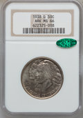 Commemorative Silver: , 1938-D 50C Arkansas MS66 NGC. CAC. NGC Census: (44/9). PCGSPopulation (126/19). Mintage: 3,155. Numismedia Wsl. Price for ...