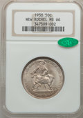 Commemorative Silver: , 1938 50C New Rochelle MS66 NGC. CAC. NGC Census: (527/100). PCGSPopulation (885/164). Mintage: 15,266. Numismedia Wsl. Pri...