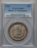 Commemorative Silver: , 1946 50C Booker T. Washington MS67 PCGS. PCGS Population (51/1).NGC Census: (60/0). Mintage: 1,000,546. Numismedia Wsl. Pr...