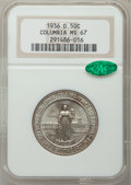 Commemorative Silver: , 1936-D 50C Columbia MS67 NGC. CAC. NGC Census: (213/19). PCGSPopulation (174/18). Mintage: 8,009. Numismedia Wsl. Price fo...
