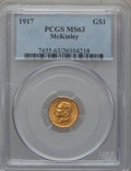 Commemorative Gold: , 1917 G$1 McKinley MS63 PCGS. PCGS Population (479/1826). NGCCensus: (226/956). Mintage: 10,000. Numismedia Wsl. Price for ...