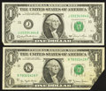 Error Notes:Foldovers, Fr. 1910-K $1 1977A Federal Reserve Note. Very Fine;. Fr. 1911-J $11981 Federal Reserve Note. Gem Crisp Uncirculated.. ... (Total: 2notes)