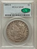 Morgan Dollars: , 1892-S $1 XF45 PCGS. CAC. PCGS Population (962/951). NGC Census:(930/1041). Mintage: 1,200,000. Numismedia Wsl. Price for ...