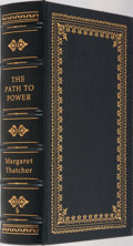 Books:Biography & Memoir, Margaret Thatcher. SIGNED/LIMITED. The Path to Power. Easton Press,1995. First edition, first printing. Limited to 3000 n...