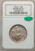 Commemorative Silver: , 1926-S 50C Oregon MS66 NGC. CAC. NGC Census: (619/185). PCGSPopulation (398/124). Mintage: 83,055. Numismedia Wsl. Price f...