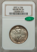 Commemorative Silver: , 1937-D 50C Oregon MS66 NGC. CAC. NGC Census: (901/589). PCGSPopulation (1157/636). Mintage: 12,008. Numismedia Wsl. Price ...