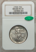 Commemorative Silver: , 1928 50C Oregon MS66 NGC. CAC. NGC Census: (465/85). PCGSPopulation (414/67). Mintage: 6,028. Numismedia Wsl. Price forpr...