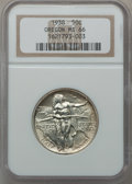 Commemorative Silver: , 1938 50C Oregon MS66 NGC. NGC Census: (456/114). PCGS Population(462/85). Mintage: 6,006. Numismedia Wsl. Price for proble...