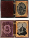 Photography:Tintypes, Pair of Quarter Plate Tintypes of Union Soldiers.... (Total: 2Items)