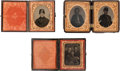 Photography:Tintypes, Three Ninth Plate Tintypes of Union Soldiers.... (Total: 3 Items)
