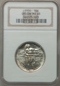 Commemorative Silver: , 1939 50C Oregon MS65 NGC. NGC Census: (232/407). PCGS Population(398/375). Mintage: 3,004. Numismedia Wsl. Price for probl...