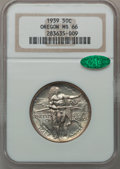 Commemorative Silver: , 1939 50C Oregon MS66 NGC. CAC. NGC Census: (305/102). PCGSPopulation (280/95). Mintage: 3,004. Numismedia Wsl. Price for p...