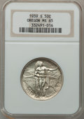 Commemorative Silver: , 1939-S 50C Oregon MS65 NGC. NGC Census: (242/403). PCGS Population(383/372). Mintage: 3,005. Numismedia Wsl. Price for pro...