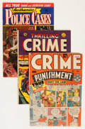 Golden Age (1938-1955):Crime, Comic Books - Assorted Golden Age Crime Crime Group (Various Publishers, 1948-53) Condition: Average VG+.... (Total: 3 Comic Books)