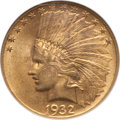 Indian Eagles: , 1932 $10 MS62 NGC. NGC Census: (15228/35951). PCGS Population(13209/28437). Mintage: 4,463,000. Numismedia Wsl. Price for ...