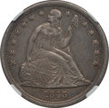 Seated Dollars: , 1843 $1 -- Improperly Cleaned -- NGC Details. AU. NGC Census:(47/218). PCGS Population (67/171). Mintage: 165,100. Numisme...