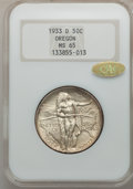 Commemorative Silver: , 1933-D 50C Oregon MS65 NGC. Gold CAC. NGC Census: (422/289). PCGSPopulation (752/465). Mintage: 5,008. Numismedia Wsl. Pri...