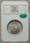 Commemorative Silver, 1936 SET Texas PDS Set NGC. CAC. This set includes: 1936 MS65;1936-D MS66 and a 1936-S MS66... (Total: 3 coins)