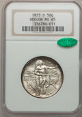Commemorative Silver: , 1933-D 50C Oregon MS65 NGC. CAC. NGC Census: (422/289). PCGSPopulation (752/465). Mintage: 5,008. Numismedia Wsl. Price fo...