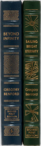 Books:Science Fiction & Fantasy, Gregory Benford. Group of Two Signed First Edition, First Printing Books Published by Easton Press. Publisher's leather. Fin... (Total: 2 Items)
