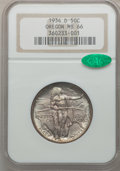 Commemorative Silver: , 1934-D 50C Oregon MS66 NGC. CAC. NGC Census: (225/23). PCGSPopulation (350/55). Mintage: 7,006. Numismedia Wsl. Price for ...