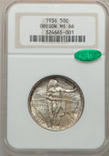 Commemorative Silver: , 1936 50C Oregon MS66 NGC. CAC. NGC Census: (517/142). PCGSPopulation (549/171). Mintage: 10,006. Numismedia Wsl. Price for...