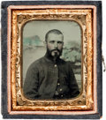 Photography:Tintypes, Ninth Plate Tintype of Federal Infantryman....