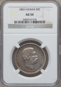 Coins of Hawaii: , 1883 50C Hawaii Half Dollar AU50 NGC. NGC Census: (28/282). PCGSPopulation (56/368). Mintage: 700,000. ...