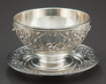 Silver & Vertu:Hollowware, A TIFFANY & CO. SILVER FOOTED BOWL AND UNDERPLATE . Tiffany & Co., New York, New York, circa 1873-1891. Marks: TIFFANY & C...