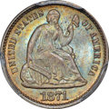 Seated Half Dimes, 1871 H10C MS66+ PCGS. CAC....