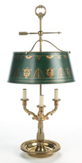 Decorative Arts, Continental:Other , AN EMPIRE-STYLE BOUILLIOTTE LAMP . 20th century. 30-1/2 inches high(77.5 cm). ...