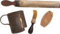 Militaria, Group of ID'd Civil War Shaving Implements. ... (Total: 4 Items)