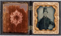 Photography:Ambrotypes, Pre - War Ninth Plate Ambrotype of Young Militia Soldier....