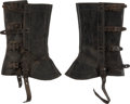 Militaria:Uniforms, Pair of Civil War Period Leather Gaiters...
