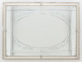 Decorative Arts, Continental:Other , A VENETIAN-STYLE ETCHED GLASS MIRROR. Circa 1900. 36 inches high x48-1/2 inches wide (91.4 x 123.2 cm). ...