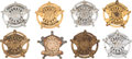 Western Expansion:Cowboy, Lot of Eight Harris County (Houston) Texas Deputy ConstableBadges.... (Total: 8 Items)