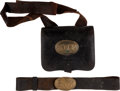 Arms Accessories:Holsters, Civil War State of New York Cartridge Box, Sling and Waist Belt....(Total: 2 )
