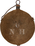 Arms Accessories:Flasks, Civil War M1858 Smooth Side Canteen with Stenciled ID to 6th New Hampshire Infantry. ...