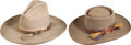 Western Expansion, Lot of Two Antique Stetson Cowboy Hats.... (Total: 2 Items)