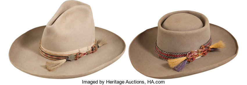 de440504429c1 Lot of Two Antique Stetson Cowboy Hats.... (Total  2 Items) Western ...