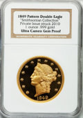 Modern Bullion Coins, 2010 One-Ounce .999 Gold of the 1849 Double Eagle Pattern. PrivateIssue Struck Gem Proof Ultra Cameo NGC. Ex: Smithsonian C...