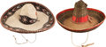 Western Expansion, Lot of Two Assorted Mexican Sombreros.... (Total: 2 Items)