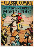 Golden Age (1938-1955):Classics Illustrated, Classic Comics #27 The Adventures of Marco Polo - First Edition(Gilberton, 1946) Condition: VG-....